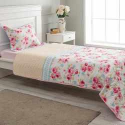 Štepani prekrivač sa štepanom  jastučnicom Rozarijum