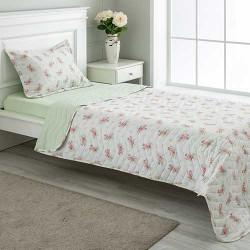 Štepani prekrivač sa štepanom jastučnicom Ružice