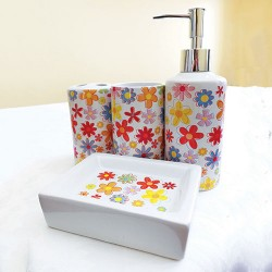 Set za kupatilo Cvetići 4kom
