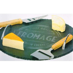Kamena ploča za serviranje sira i dva noža za sir